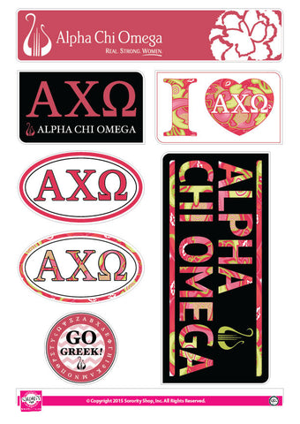 Alpha Chi Omega Lifestyle Stickers