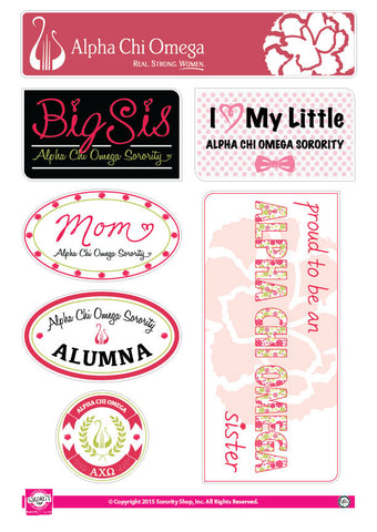 Alpha Chi Omega Family Stickers