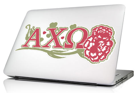 Alpha Chi Omega 11.75 x 4.5 Laptop Skin/Wall Decal