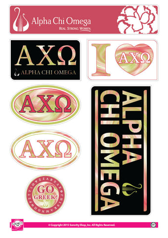 Alpha Chi Omega Tie Dye Stickers