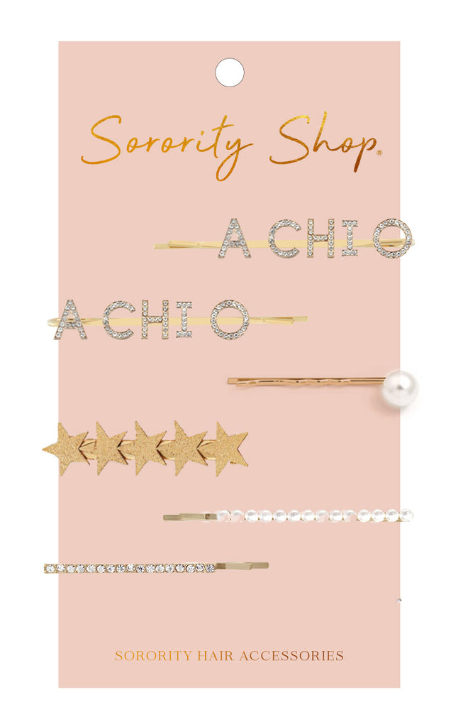 Alpha Chi Omega Sorority Hair Clips