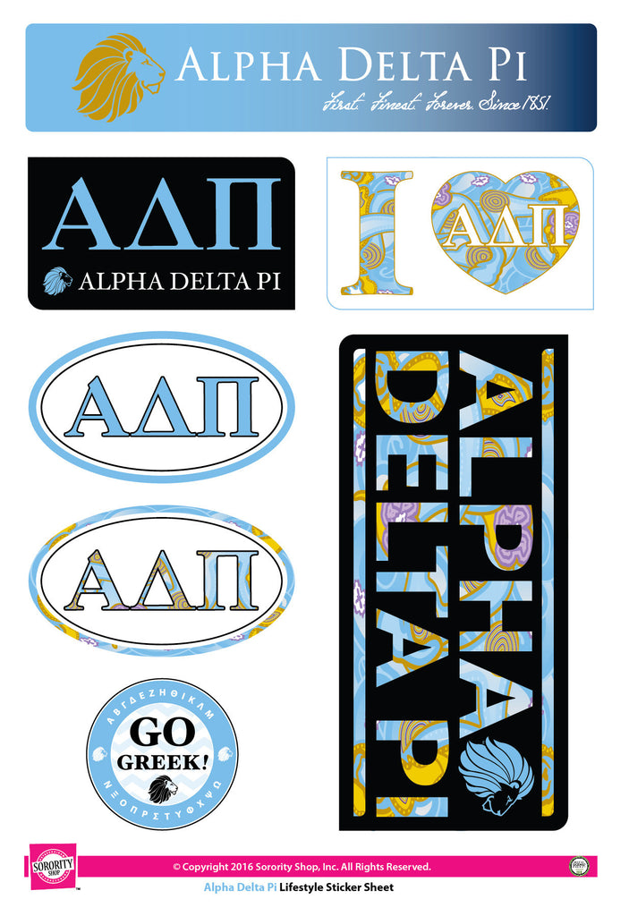 Alpha Delta Pi Lifestyle Stickers