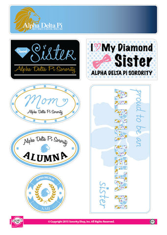 Alpha Delta Pi Family Stickers