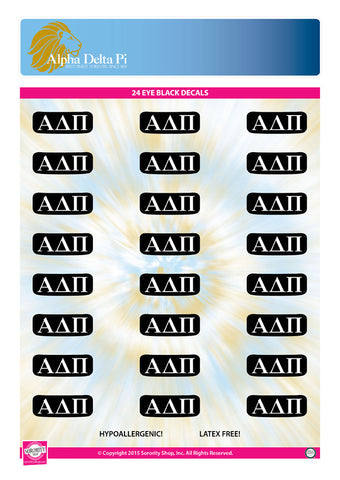 Alpha Delta Pi Eye Black Decals