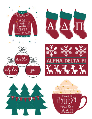 Alpha Delta Pi <br> Holiday Sticker Sheet