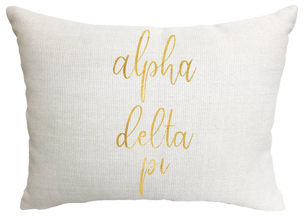 Alpha Delta Pi Throw Pillow