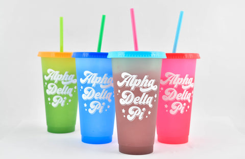 Alpha Delta Pi Color Changing Cups (Set of 4)