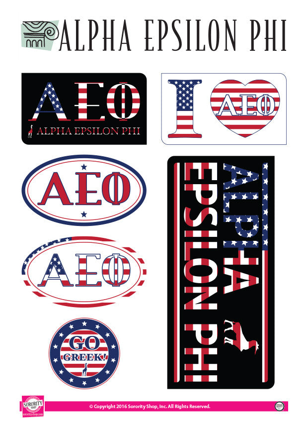 Alpha Epsilon Phi American Stickers