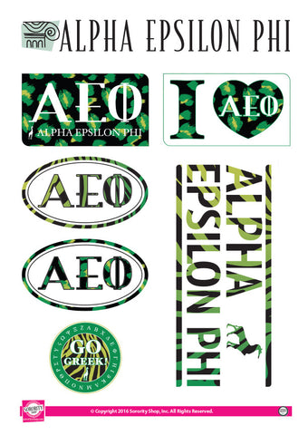 Alpha Epsilon Phi Animal Print Stickers