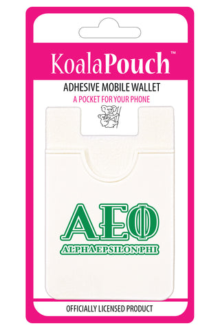 Alpha Epsilon Phi <br> Koala Pouch<br>Adhesive wallet for your phone