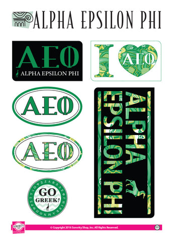 Alpha Epsilon Phi Lifestyle Stickers