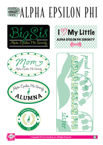 Alpha Epsilon Phi Family Stickers