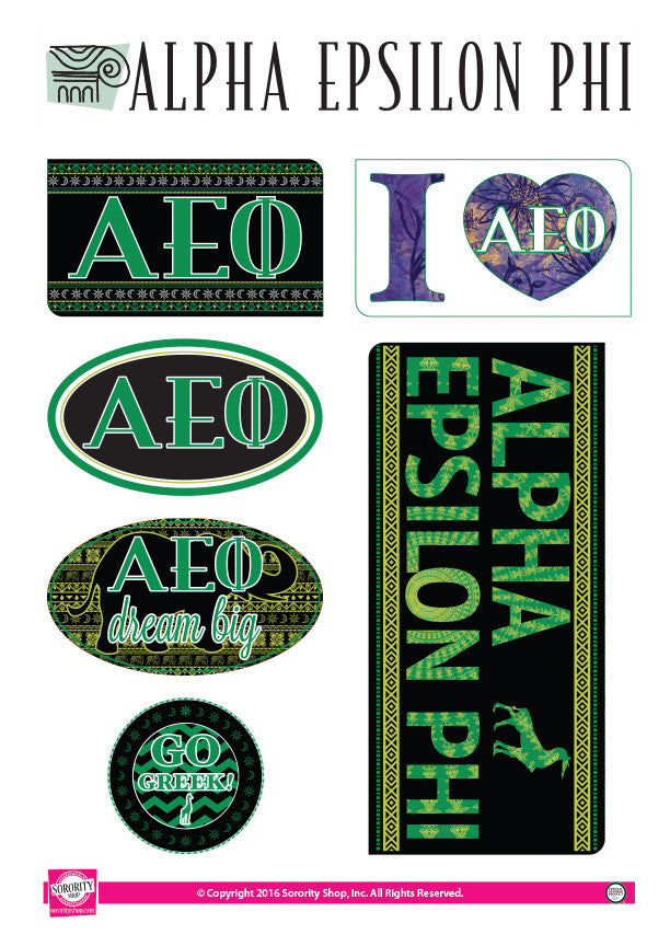 Alpha Epsilon Phi <br> Bohemian Stickers
