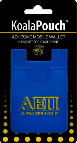 Alpha Epsilon Pi <br> Koala Pouch<br>Adhesive wallet for your phone