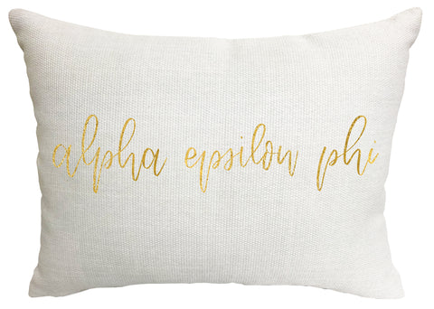 Alpha Epsilon Phi Throw Pillow