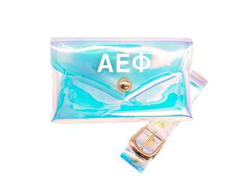 Alpha Epsilon Phi Holographic Belted Fanny Pack