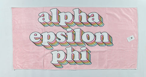 Alpha Epsilon Phi Plush Retro Beach Towel