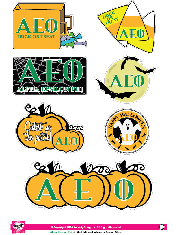 Alpha Epsilon Phi <br> Halloween Stickers