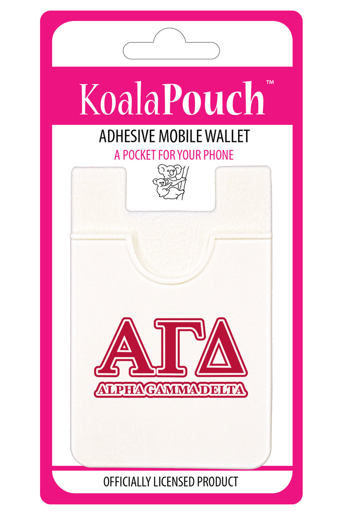 Alpha Gamma Delta <br> Koala Pouch<br>Adhesive wallet for your phone