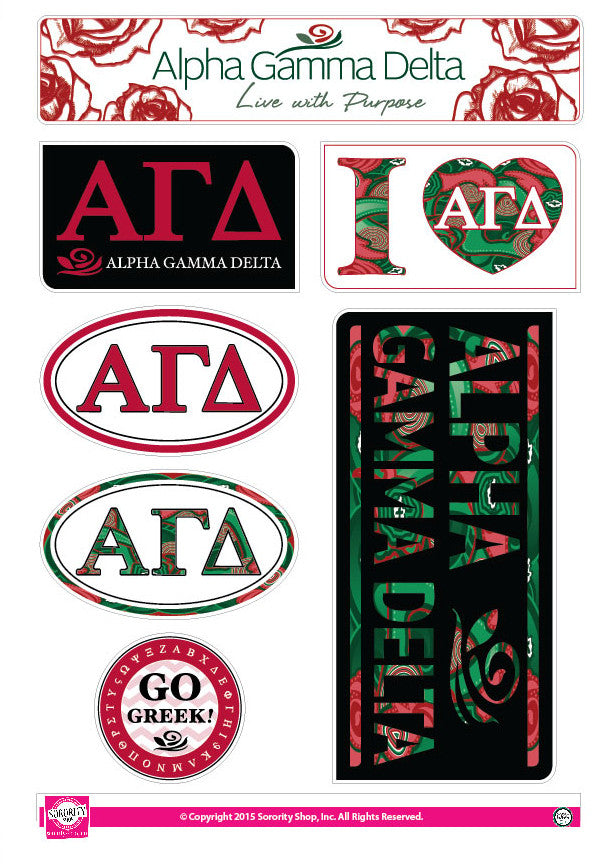 Alpha Gamma Delta Lifestyle Stickers