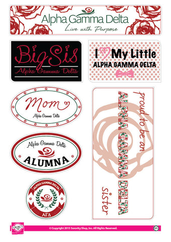 Alpha Gamma Delta <br> Family Stickers