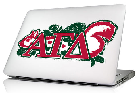 Alpha Gamma Delta 11.75 x 5.5 Laptop Skin/Wall Decal