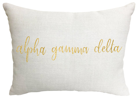 Alpha Gamma delta Throw Pillow