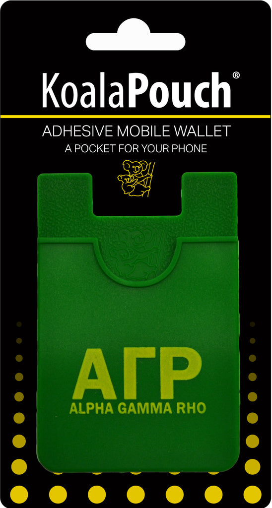 Alpha Gamma Rho <br> Koala Pouch<br>Adhesive wallet for your phone