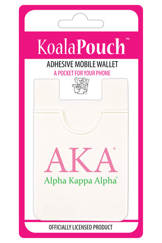 Alpha Kappa Alpha <br> Koala Pouch<br>Adhesive wallet for your phone