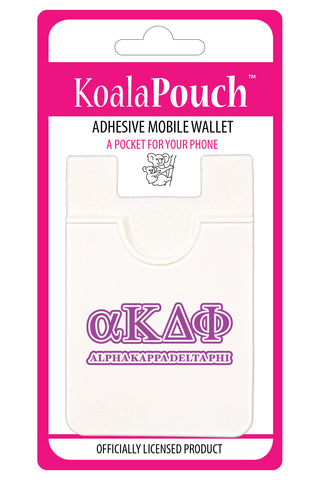 Alpha Kappa Delta Phi <br> Koala Pouch<br>Adhesive wallet for your phone