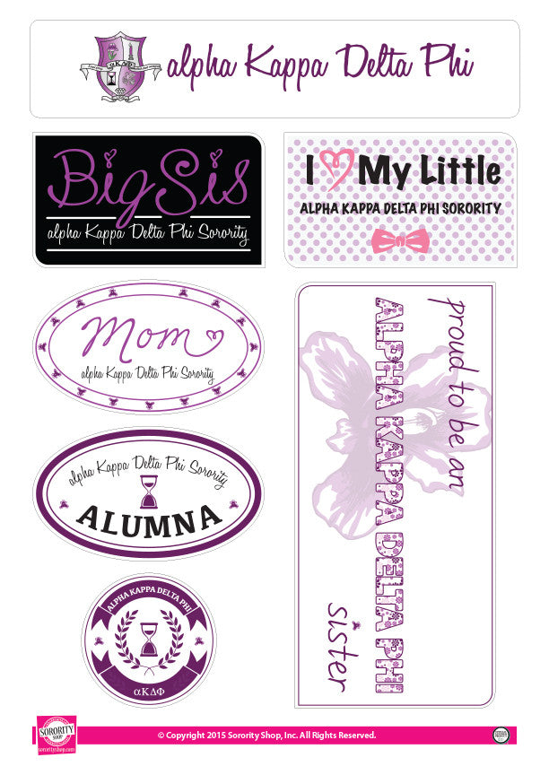 Alpha Kappa Delta Phi <br> Family Stickers