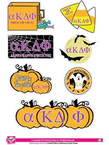 alpha Kappa Delta Phi Halloween Stickers