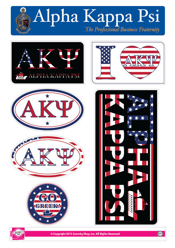 Alpha Kappa Psi <br> American Stickers
