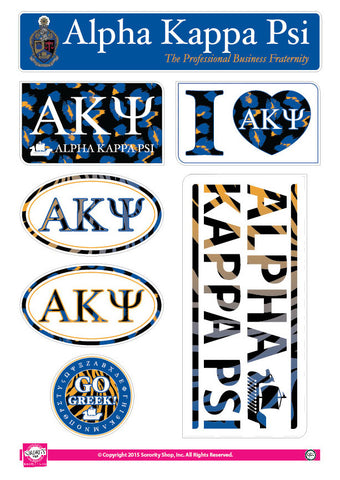 Alpha Kappa Psi <br> Animal Print Stickers