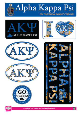 Alpha Kappa Psi <br> Lifestyle Stickers