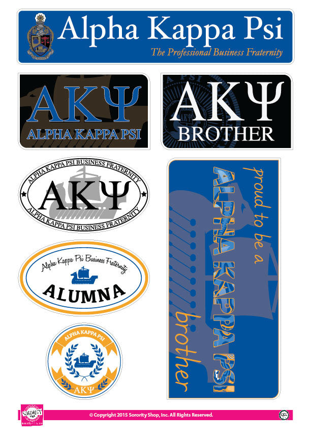 Alpha Kappa Psi <br> Family Stickers
