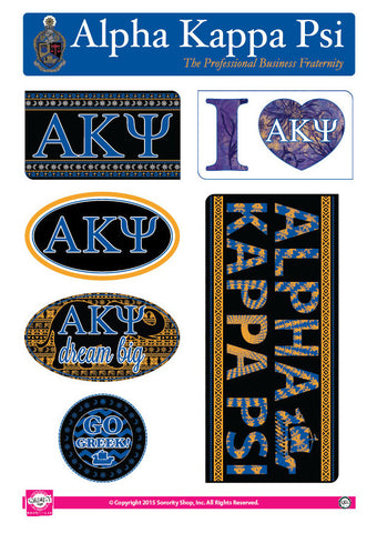 Alpha Kappa Psi <br> Bohemian Stickers