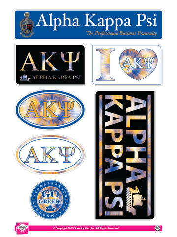 Alpha Kappa Psi <br> Tie Dye Stickers