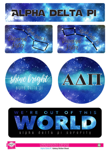 Alpha Delta Pi Galaxy Stickers