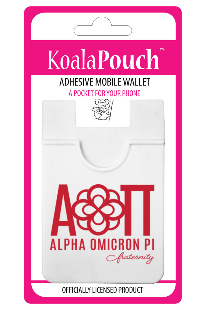 Alpha Omicron Pi <br> Koala Pouch<br>Adhesive wallet for your phone