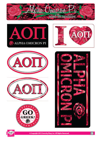 Alpha Omicron Pi <br> Lifestyle Stickers