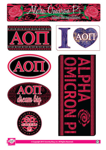 Alpha Omicron Pi <br> Bohemian Stickers