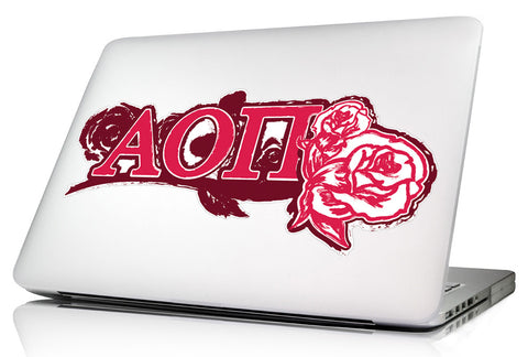 Alpha Omicron Pi <br>11.75 x 5 Laptop Skin/Wall Decal