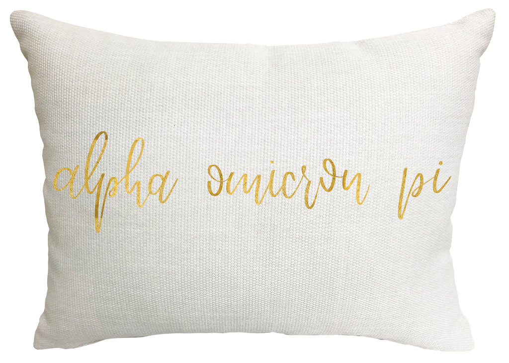 Alpha Omicron Pi Throw Pillow