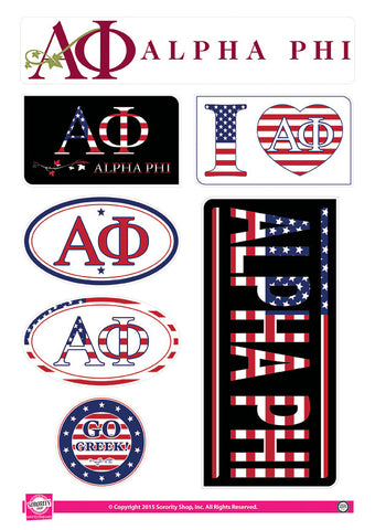 Alpha Phi <br> American Stickers
