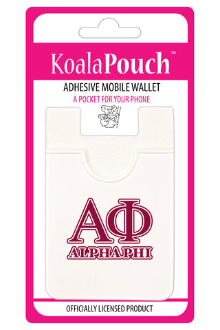 Alpha Phi<br> Koala Pouch<br>Adhesive wallet for your phone