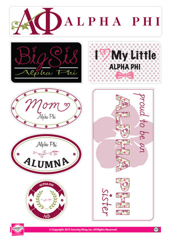 Alpha Phi <br> Family Stickers