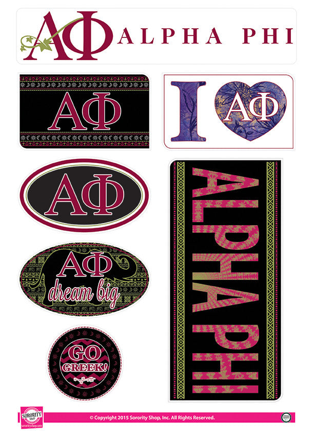 Alpha Phi <br> Bohemian Stickers