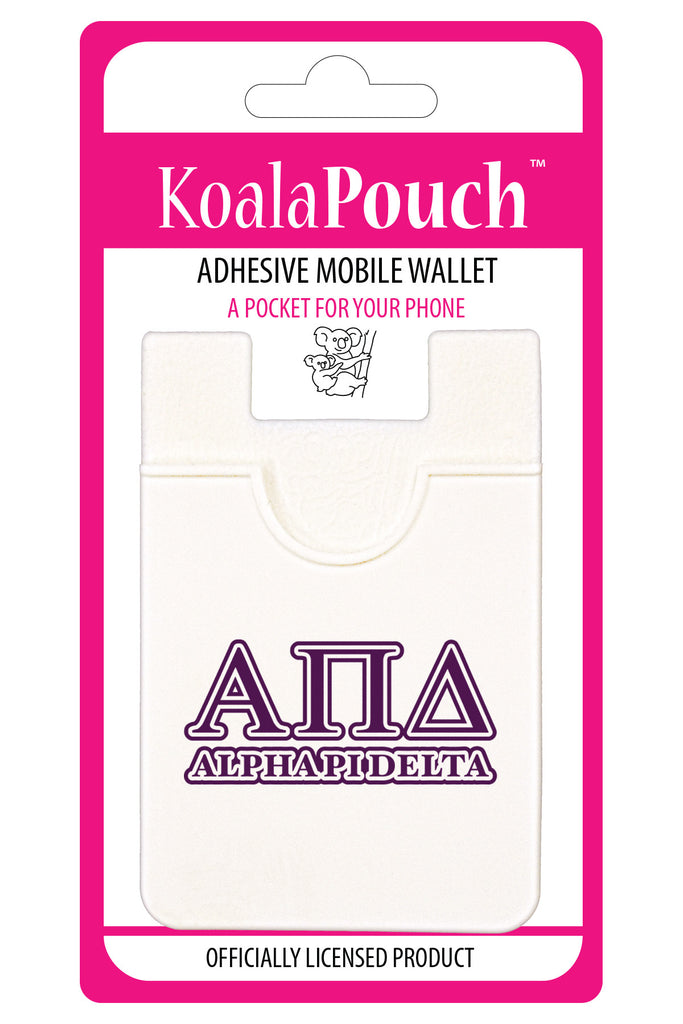 Alpha Pi Delta <br> Koala Pouch<br>Adhesive wallet for your phone