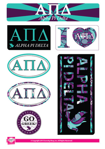 Alpha Pi Delta <br> Lifestyle Stickers